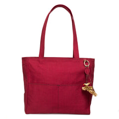 Maroon Quilted Metro Shoulder Bag