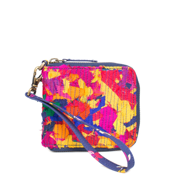 Multicoloured Katran Wallet with Zip