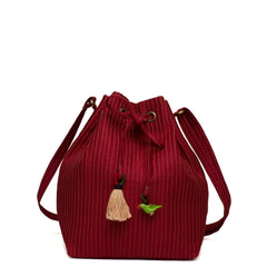 Maroon Hampi Bucket bag