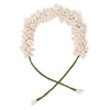 Off White Chanderi Silk Mogra Gajra Hair Accessory Long