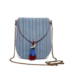 Neel Lines Cotton Minar Sling Blue