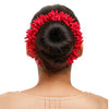 Red Mogra Gajra Hair Ornament