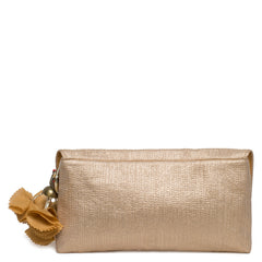Gold Sparkle Quilted Clutch