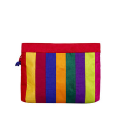 Multicoloured Patchwork Large Pouch