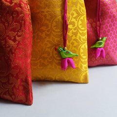 Brocade Gift pouches - set of 3