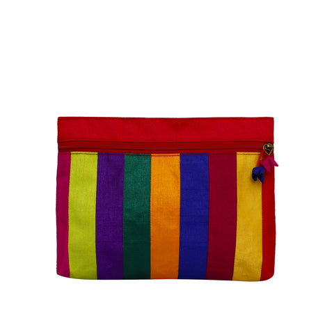 Patchwork Large Pouch - Multi