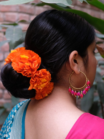 Orange Genda Phool Rubberband