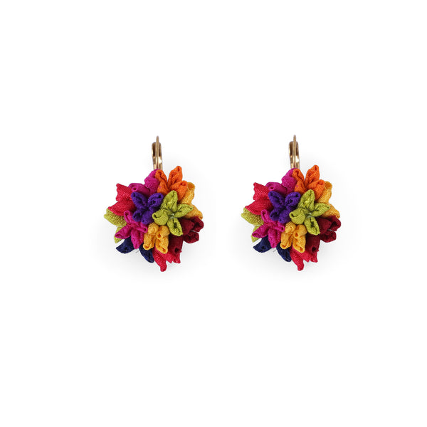 Multicolour Mogra earrings