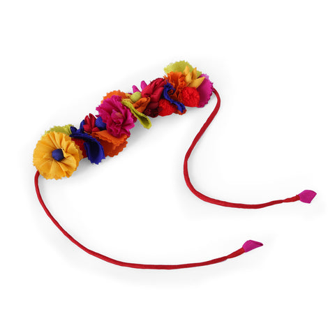 Multi Mix Silk Gajra Hair Accessory Short