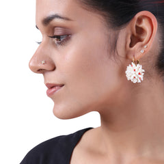 White Harsingar earrings