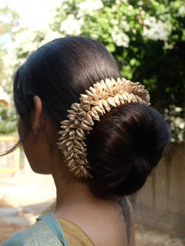 Gold Mogra Gajra Hair Ornament Thick
