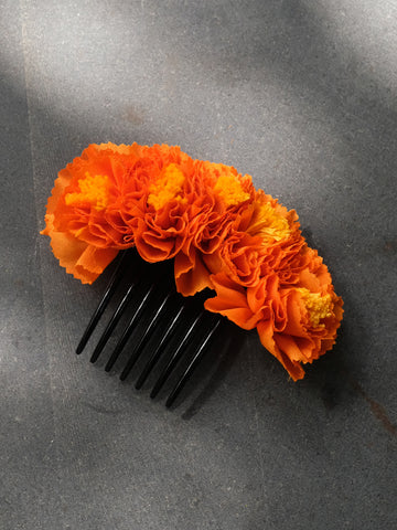 Orange Genda Hair Comb