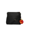 Black Quilted Silk Suvi Sling Bag