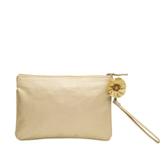 Gold Yellow Brocade Silk Wristlet