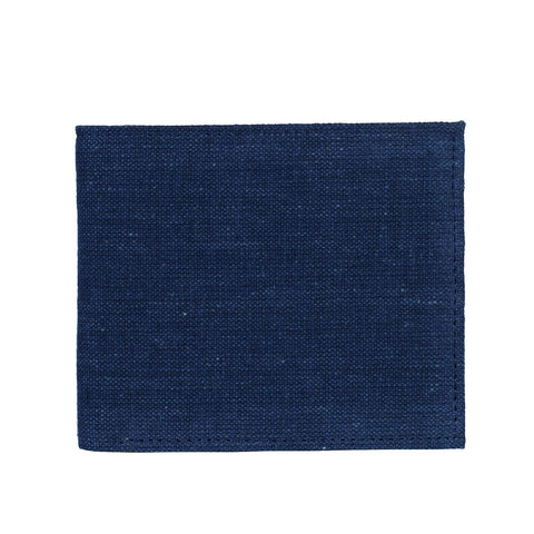 Indigo wallet - Checks lining