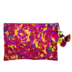 Multicoloured Upcycled Katran Oversize Pouch