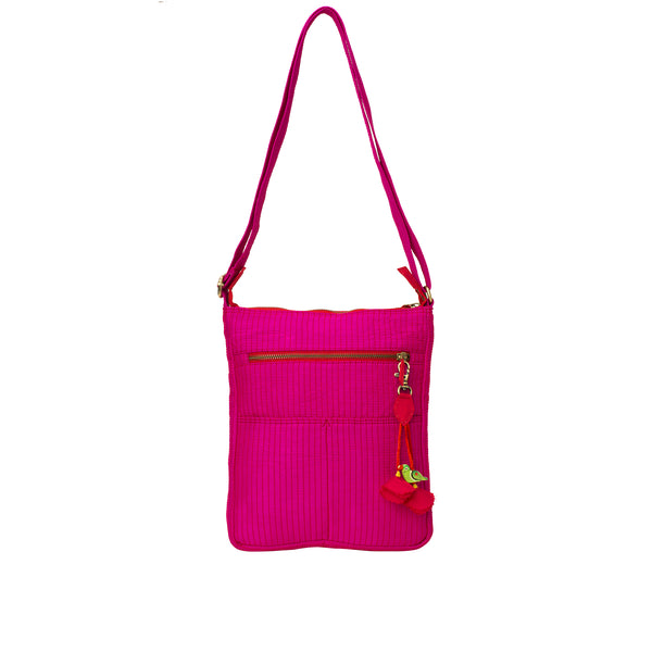Fuschia Quilted Nomad Sling Bag
