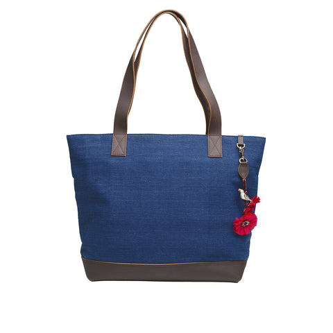 Natural dyed Indigo Shopping bag - Indigo
