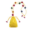Yellow Mashru Silk Potli Sling