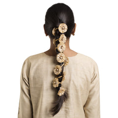 Gold Silk Hair Accessory Long