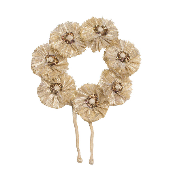 Gold Silk Hair Accessory Short