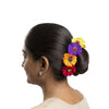 Multicoloured Silk Gajra Hair Accessory Short