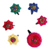 Multicoloured Phulvari Hair Clips - Set of 6