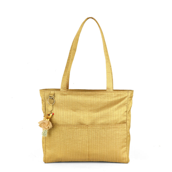 Gold Metro Shoulder Bag