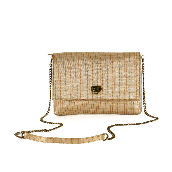 Gold Silver Raquel Clutch