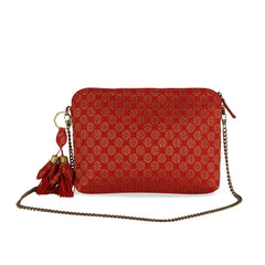 Red Buti Brocade Arya Sling Bag
