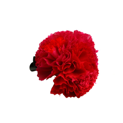 Pink Red carnation hair clip