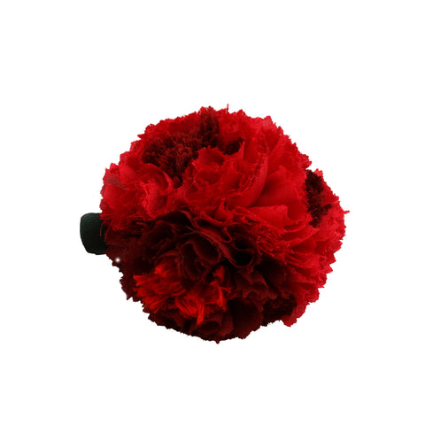 Red maroon carnation hair clip