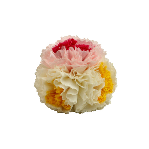 White Pink Carnation hair clip