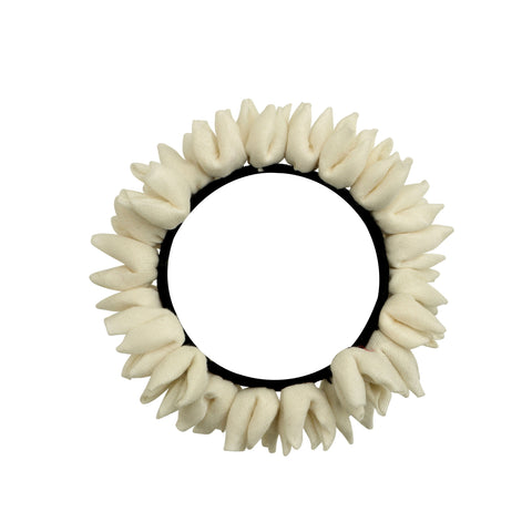 Off White Mogra Rubberband Gajra Hair Accessory