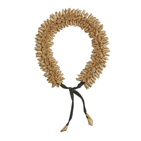 Gold Mogra Gajra Hair Accessory Thick