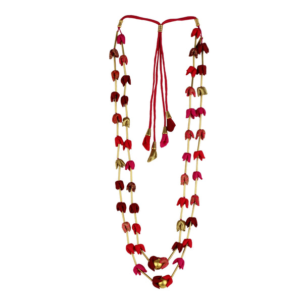 Multi Red Mogra Pipe Mala