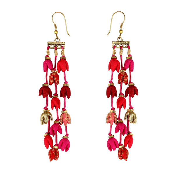 Shades of Red Teen Ladi Earrings