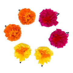 Genda Phool Clips - Set of 6