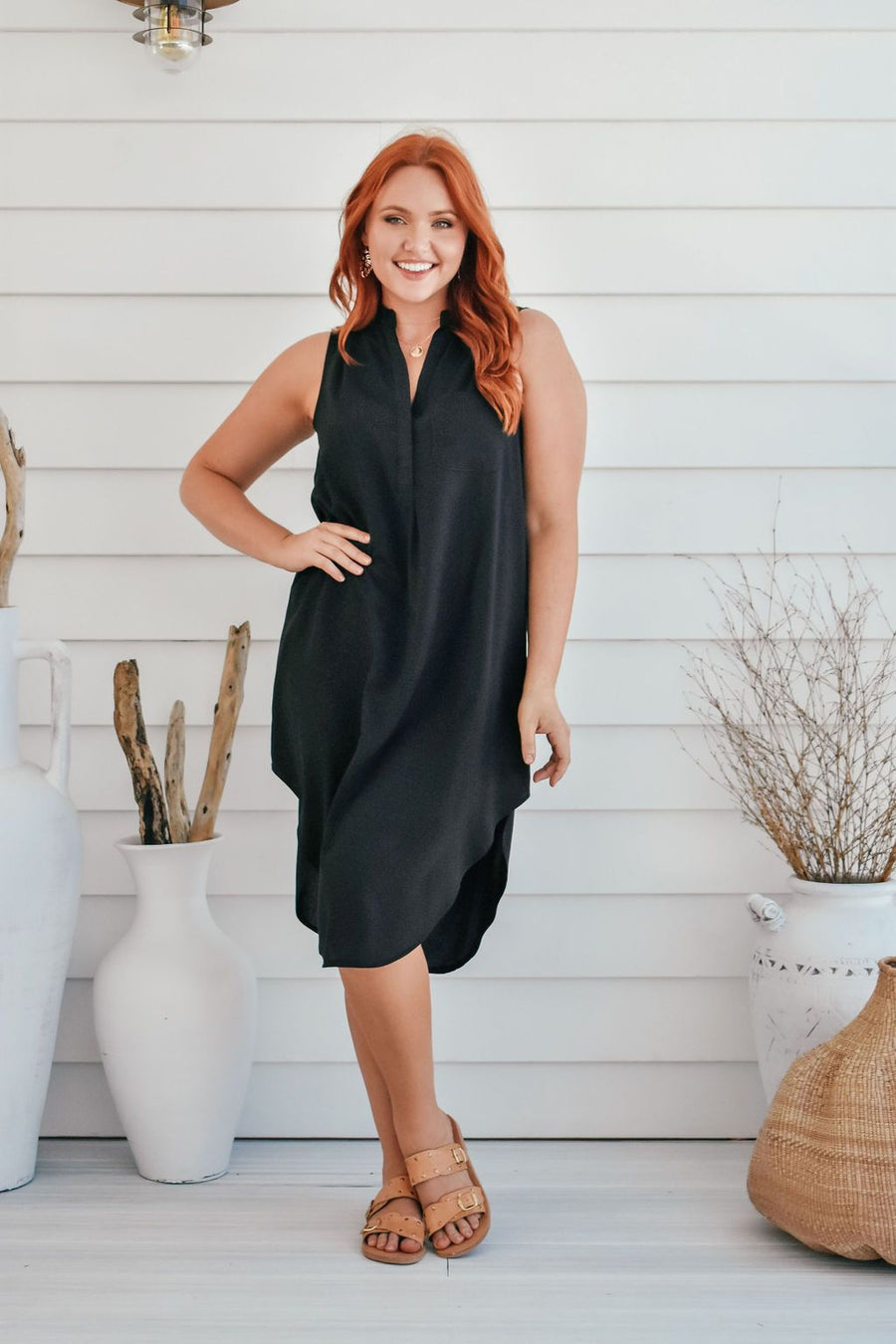 Addi Shirt Dress | Black DRESS Gray Label