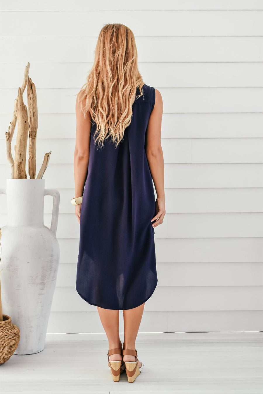 Addi Shirt Dress | Navy DRESS Gray Label
