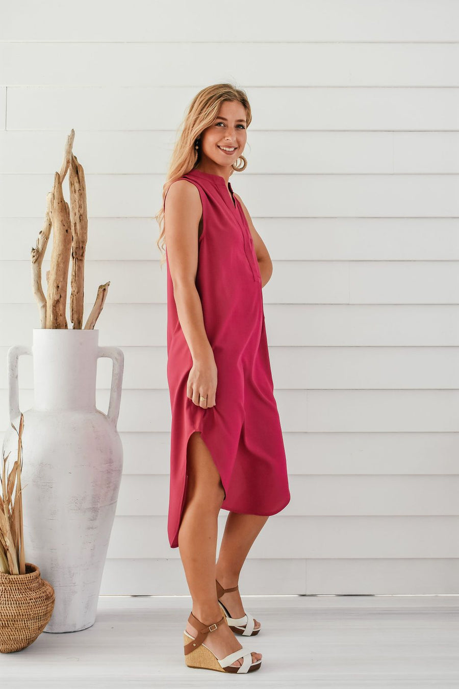 Addi Shirt Dress | Pink DRESS Gray Label