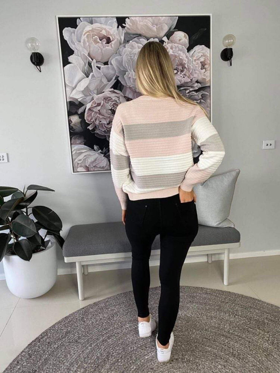 Alexia Sweater Knit Gray Label