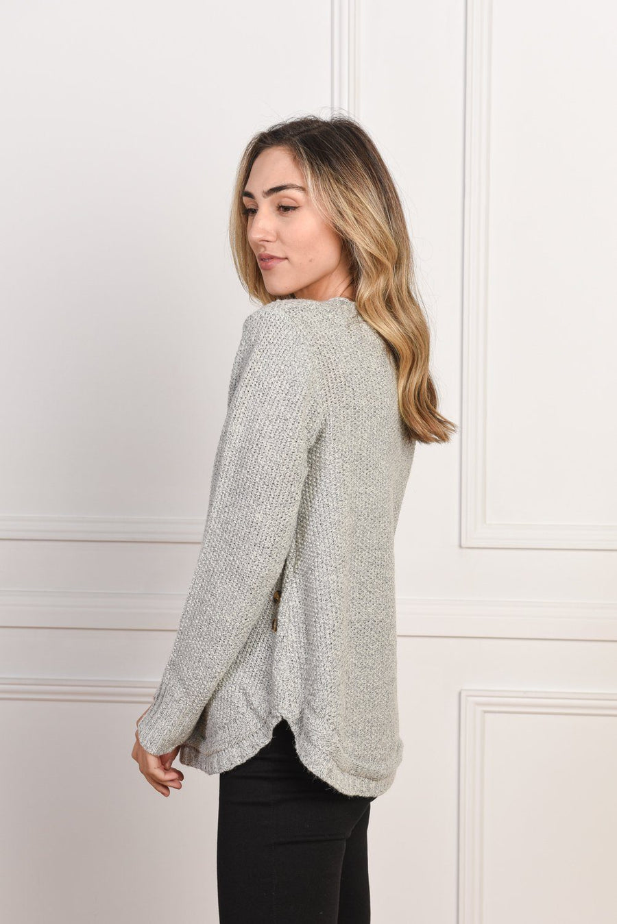 Amelia Knit | Grey Top Gray Label