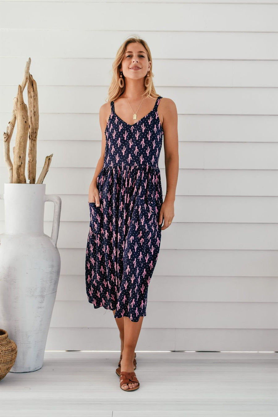 Arizona Dress | Cactus Print - Gray Label DRESS Gray Label