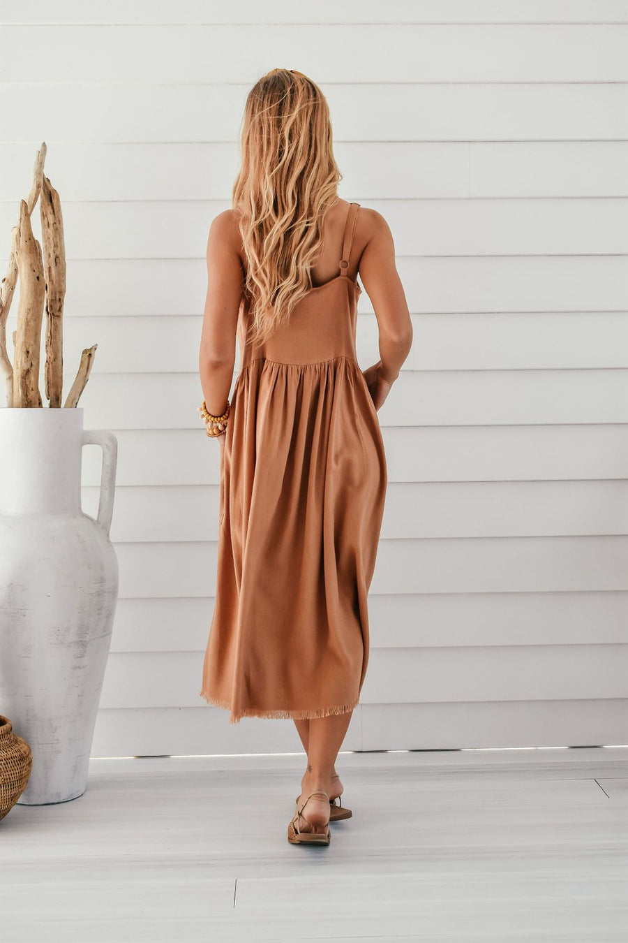 Arizona Linen Dress | Tan - Gray Label DRESS Gray Label