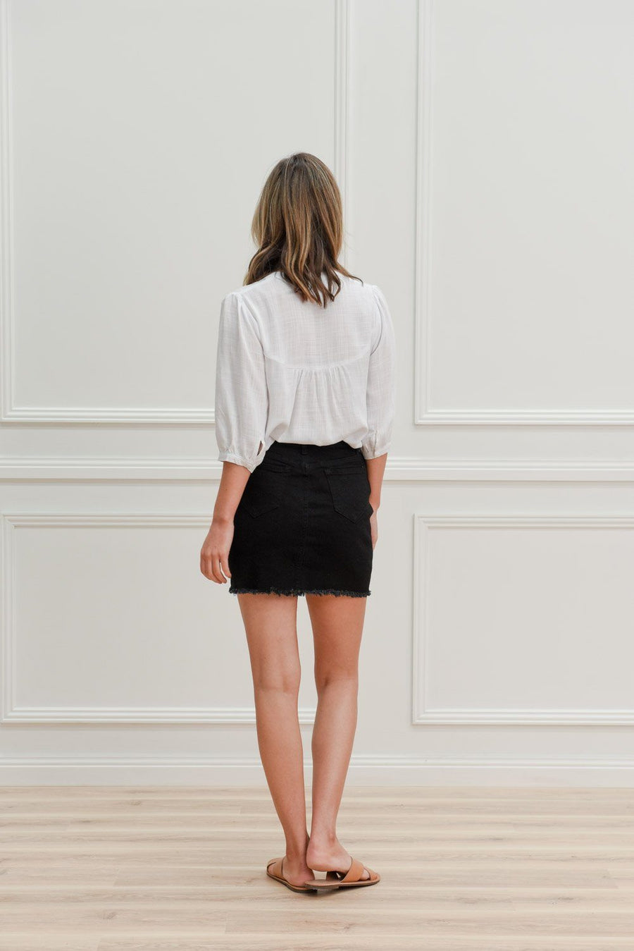 Ava Skirt | Black Denimn Skirt Gray Label