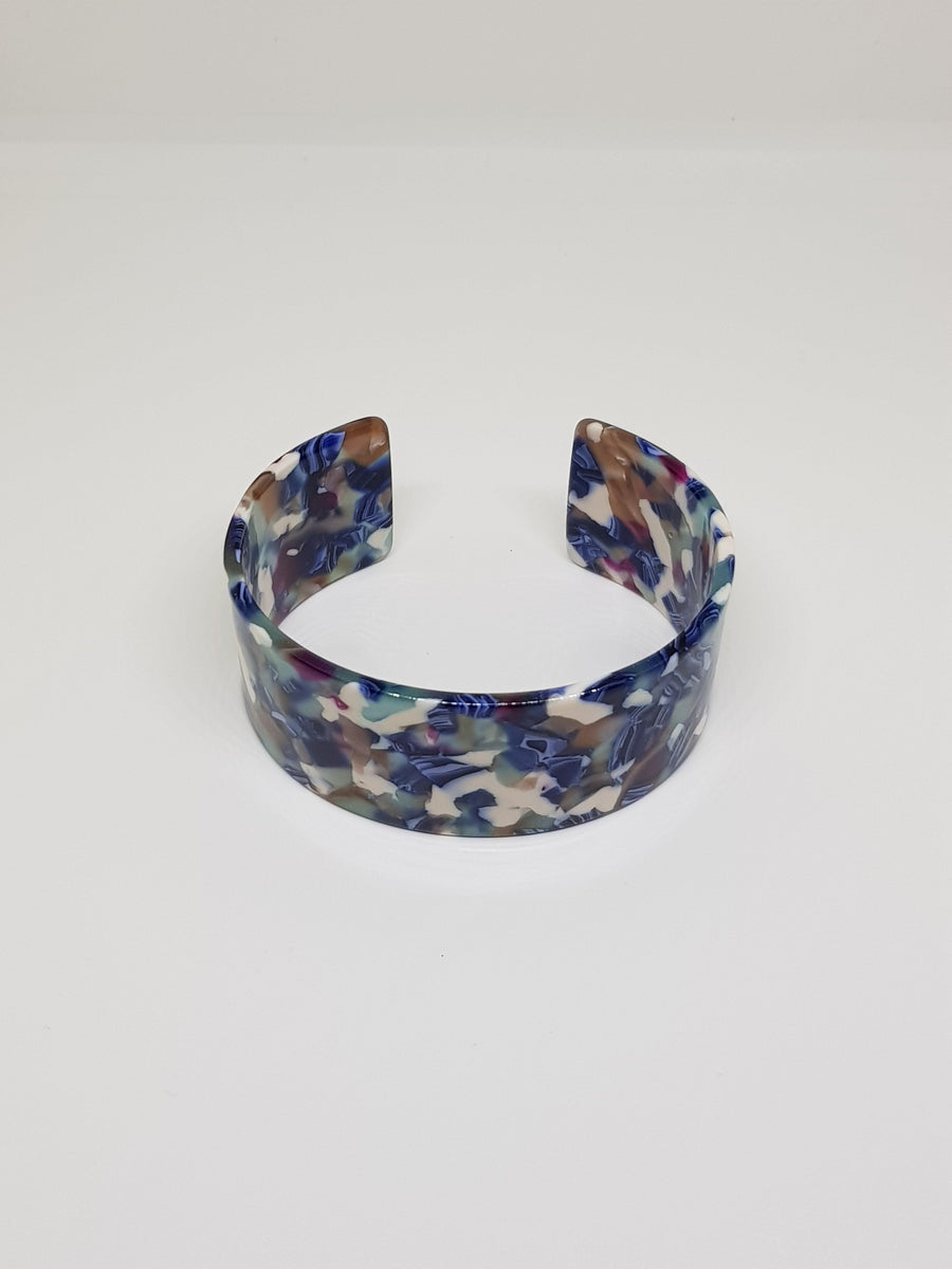 Bangle | Simone Blue and White Mix Bangle Linart Designs