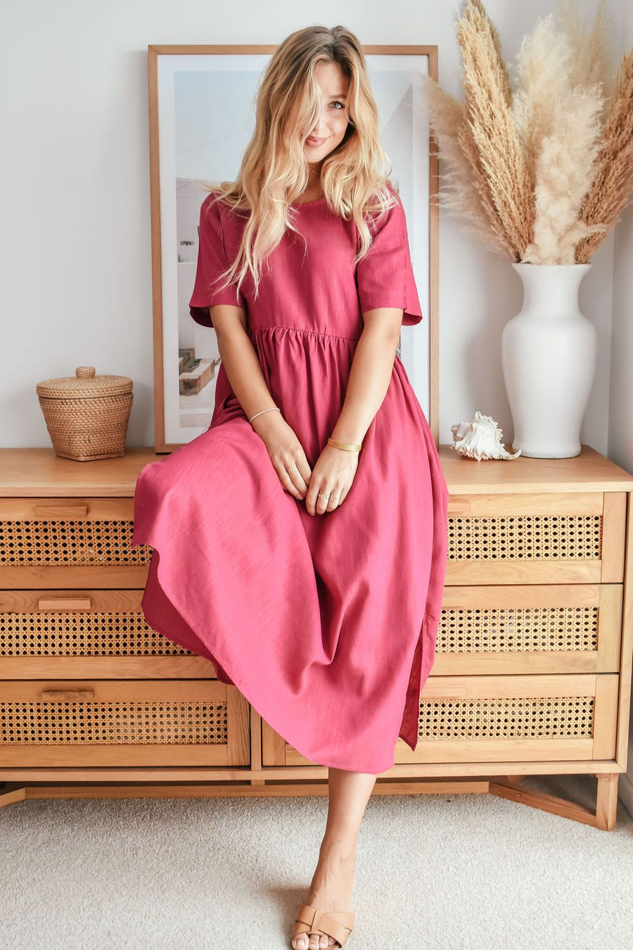 Bec Dress | Fuschia - Gray Label DRESS Gray Label