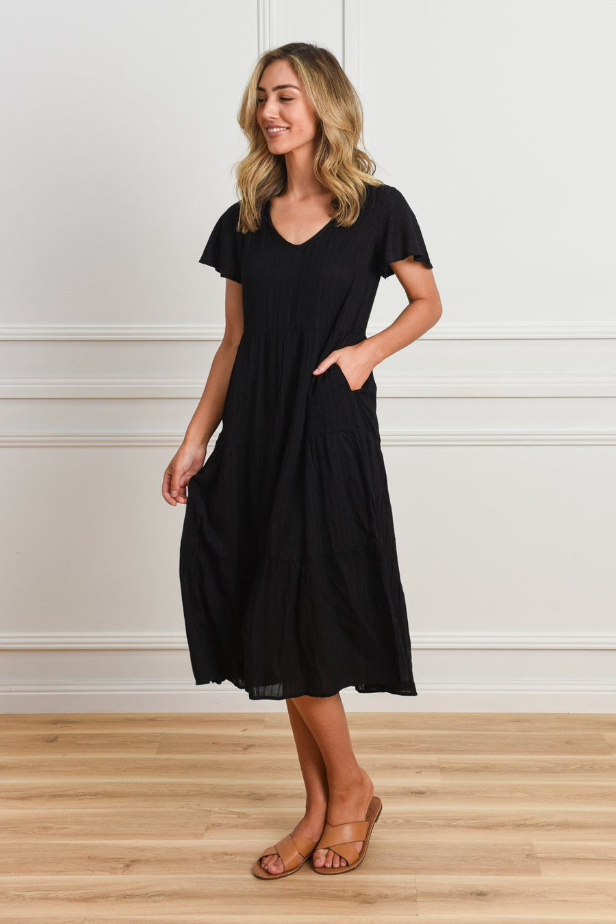 Bella Dress | Black Dress Gray Label