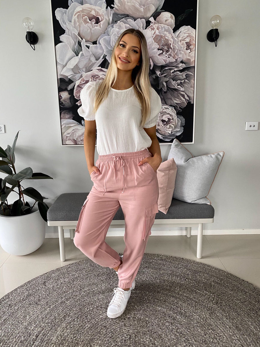 Bella Jogger Pants | Dusty Pink - Gray Label Pants Gray Label